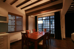 Dining room. A dining room of an old lane house Stock Photo