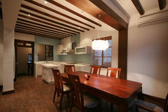 Dining room. A dining room of an old lane house Stock Photos