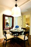 Dining room. Small dining room interior in apartment Stock Photo