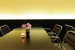Dining room. Modern style dining room indoor Stock Photo