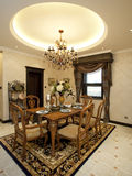 Dining room. A modern white nice house Stock Images