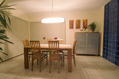 Dining room. Elegant and simple dining room. Modern home interior Royalty Free Stock Image