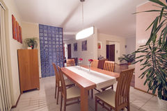 Dining room. Elegant and simple dining room. Modern home interior Royalty Free Stock Images