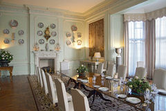 The Dining room. At Leeds Castle Stock Image