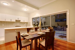 Dining Room 4. A dining room in a modern home Stock Image