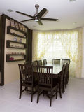 Dining Room. A dining room whith table and chair Royalty Free Stock Photos