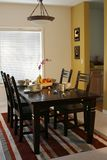 Dining room. Modern dining room and dining table Stock Image