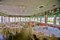 Dining Room. A photo of a very old Florida room dining area.  Photo taken on Sanibel / Captiva Island Royalty Free Stock Photo
