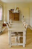 Dining room. A rustic, yet modern and light dining room Royalty Free Stock Photos