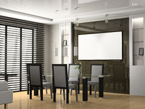 Dining room. Modern interior of a dining room 3D Stock Photos