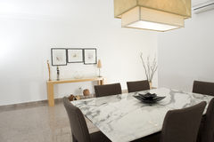Dining room. Of a spacious apartment Royalty Free Stock Image