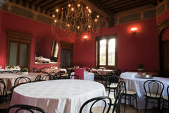Dining room in an ancient castle Royalty Free Stock Photos