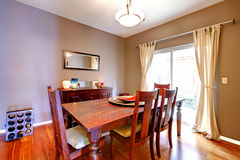 Dining room with antique furniture Stock Image
