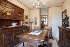 Dining room with antiquities interior Stock Photo