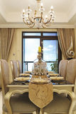 The dining room of the apartment Royalty Free Stock Images
