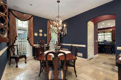 Dining room with arch entry Royalty Free Stock Image