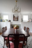 Dining room. BOSTON, MA - NOVEMBER 24, 2016: Stylish modern dining room in a beautiful house Royalty Free Stock Photo