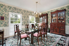 Dining room with buffet Royalty Free Stock Images