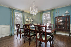 Dining room with buffet Royalty Free Stock Photography