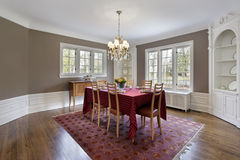 Dining room with built-in cabinets Royalty Free Stock Photos
