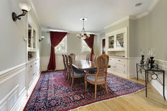 Dining room with built-ins Stock Images