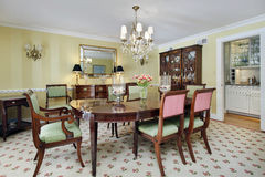 Dining room with butler's pantry Royalty Free Stock Images