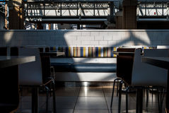 Dining room cafeteria food court with light and shadow Royalty Free Stock Image