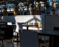 Dining room cafeteria food court and shadow Stock Image