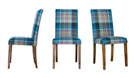 Dining room chair, three options of turn Stock Photos