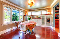 Dining room with cherry floor. Stock Photos