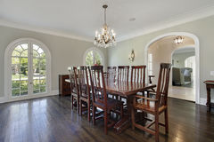 Dining room with circular doors Royalty Free Stock Image