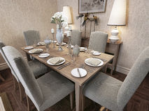 Dining room classic style Royalty Free Stock Images