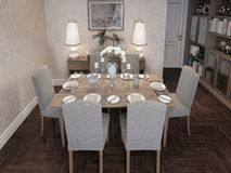 Dining room classic style Royalty Free Stock Photo