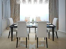 Dining room classic style Stock Photo