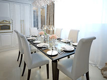 Dining room classic style Royalty Free Stock Image