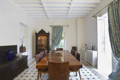 Dining Room Of Colonial Style House Stock Photo