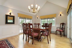 Dining room in condo Royalty Free Stock Photos