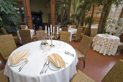 Dining room conservatory Stock Photo