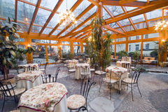 Dining room conservatory royalty free stock photos
