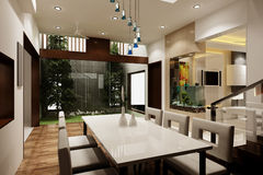 Dining Room 3D Royalty Free Stock Photography
