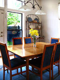 Dining room Danish table stock images