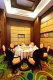 Dining room. Decorated in modern Chinese style Stock Photography