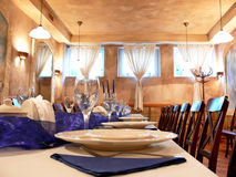 Dining room details royalty free stock images