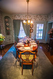 Dining room and dinner table Royalty Free Stock Photography