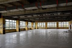 Dining room of a disused factory Royalty Free Stock Photos