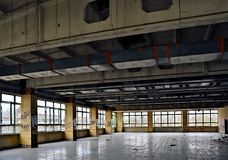 dining room of a disused factory Royalty Free Stock Photography