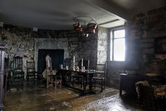 Dining room in Dunguaire castle Royalty Free Stock Photography