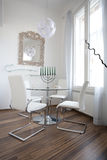 Dining room elegant and modern royalty free stock images