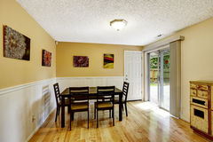 Dining room with exit to backyard patio area Stock Photos