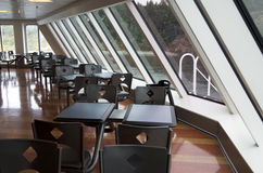 Dining room in ferry ship Stock Photos